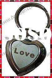 Heart Shaped Keyring/Key Chain with Laser Logo