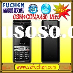Hot sale GSM CDMA mobile phone, dual mode mobile phone GSM850/900/1800/1900MHz+CDMA450MHz