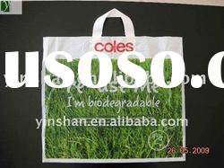 Hot seller 100% LDPE with D2W Soft loop Handle Plastic Shopping bag