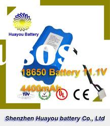 HuaYou 20112 News Li-ion 18650 4400mAh rechargeable li polymer battery 3.7v