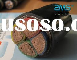 Multi-core power cable with copper conductor XLPE insulated steel tape armored