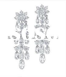 NEW FASHION 925 SILVER CHANDELIER STUD EARRINGS