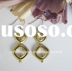 New design copper plated fashion alloy earring jewelry