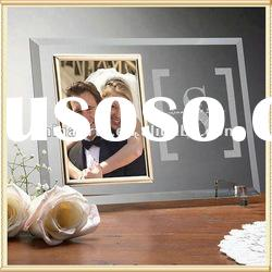 Optical Crystal Glass Picture Frame Engving Logo For Home Decoration