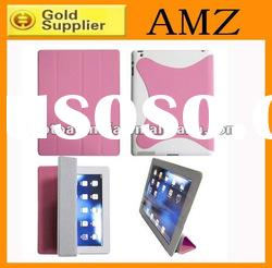 PU leather smart cover for ipad 2 case ,magnetic sleep PU leather smart cover for ipad 2
