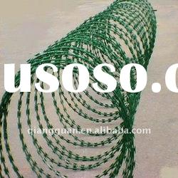 PVC coated Razor Barbed Wire(factory)-ISO9001:2008certificated