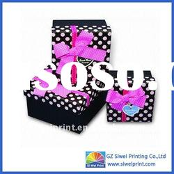 Paper christmas gift box led with high quality