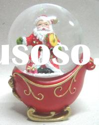 Polyresin Christmas Santa Claus Water Globe Decoration