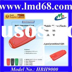 Promotional gift with LED flashlight and mobile phone torch and sticker HBH9000