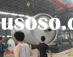 Pyrolisis machine for recycling plastic or waste tires