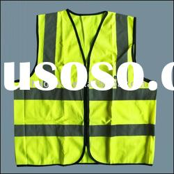 Reflective safety vest with zipper closer