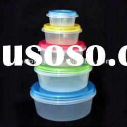 Round Plastic Freezer Food Storge Box