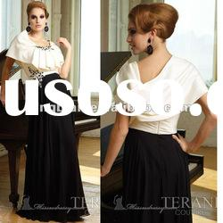 SC1566 latest dress designs black and white evening dress fashion 2012 by Terani couture