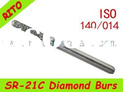 SR-21C Round End Taper Diamond Burs,Good Quality Dental Diamond Burs - Rito Dental Quality Products