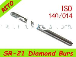 SR-21 Round End Taper Diamond Burs,Good Quality Dental Diamond Burs - Rito Dental Quality Products