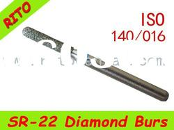 SR-22 Round End Taper Diamond Burs,Good Quality Dental Diamond Burs - Rito Dental Quality Products