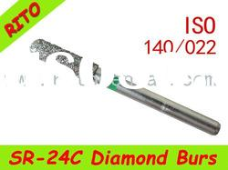 SR-24C Round End Taper Diamond Burs,Good Quality Dental Diamond Burs - Rito Dental Quality Products