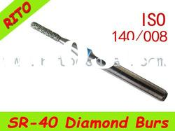 SR-40 Round End Taper Diamond Burs,Good Quality Dental Diamond Burs - Rito Dental Quality Products