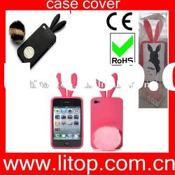 Silicone lovers rabbit ear cases for Iphone 4/4S cover