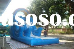 Small inflatable water slide with pool