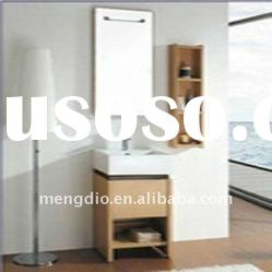 Solid Wood Small Mirrored Bathroom Cabinets