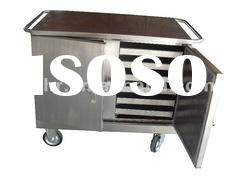 Stainless steel food cart for delivering meals