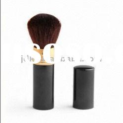 Standing Powder Brush with Plastic Handle and Nylon Bristles,retracable brush