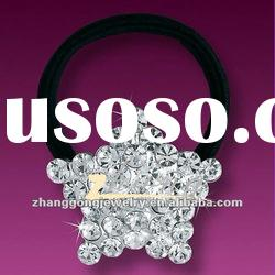 Star design rhinestone hair band with elastic