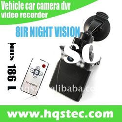 Super Night Vision vehicle car camera dvr video recorder with 8IR LED