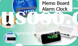 Travel Alarm Clock with LED Light Memo Board