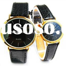 Waterproof dispaly packing couples watch with leather strap &Japan quartz movt