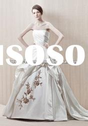 White satin ball gown wedding dress 2012 NSW3135