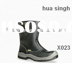 black steel toe cap long workplace boots,safety miner boots