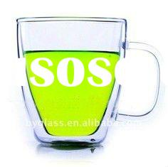 boroslicate glass clear double wall glass cup
