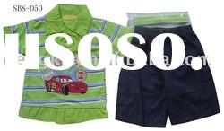 boy's suit with basic design with embroidery patch
