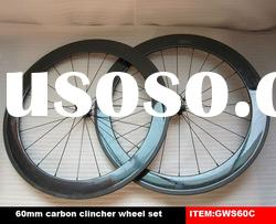carbon fiber clincher wheels 60mm,full carbon fiber wheels in stock