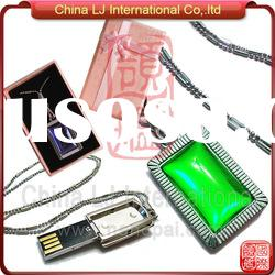 customize necklace jewelry usb flash drive promotional gift