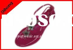 fashion flat flower sandals/ladies fashion flat sandals/jelly flower sandals