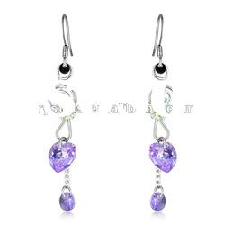 fashion long drop crystals earrings, fashion jewelry earring made with swarovski earring