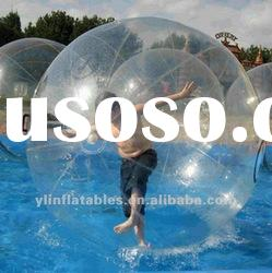 funny clear inflatable water ball/aqua bola