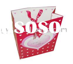 gift paper bag with ribbon handle