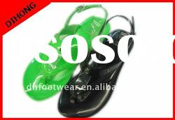 jelly sandal for women/plastic jelly sandals/clear jelly sandals