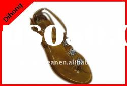 ladies flat sandals/fashion ladies flat sandals shoes/lady sandal shoes