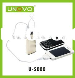 micro usb charger 5000 mah Portable Dual Mobile USB Power Bank For iphone,for Ipad