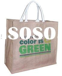 natural jute bag with cotton handle
