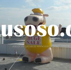 outdoor giant inflatable hippo air balloon
