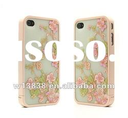 pink flower hard back case cover for iphone 4g 4s