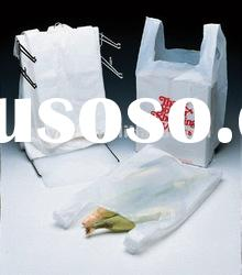 plastic t shirt bags with handle