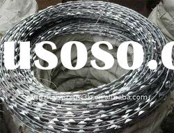 pvc coated and hot dipped galvanized and electric galvanized razor barbed wire