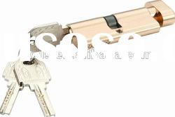 single pin euro-profile lock cylinder with s groove key&thumb turn